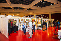 People visit the art displays at The Winter Art Fair Off the Square at Monona Terrace Community and Convention Center on Sunday, November 15, 2015 in Madison, Wisconsin