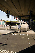 New pedestrian crossing across Lord Hills Bridge, beneath the Westway flyover, Royal Oak, London