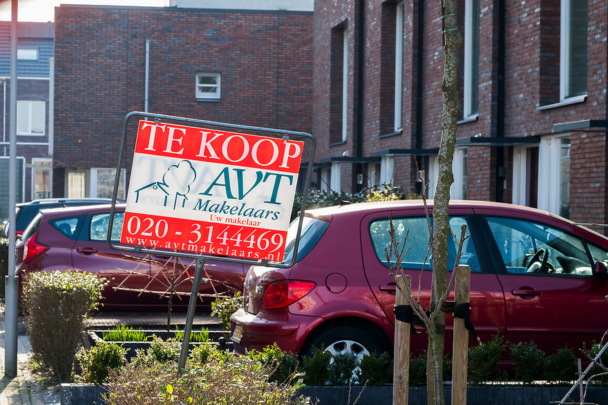 Nederland, Diemen, 20180214<br /> Woning te koop in Diemen. Verkocht voor 475.000 euro. <br /> <br /> Foto: (c)Michiel Wijnbergh