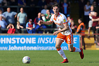 Blackpool's Ben Heneghan in action<br /> <br /> Photographer David Shipman/CameraSport<br /> <br /> The EFL Sky Bet League One - Scunthorpe United v Blackpool - Friday 19th April 2019 - Glanford Park - Scunthorpe<br /> <br /> World Copyright © 2019 CameraSport. All rights reserved. 43 Linden Ave. Countesthorpe. Leicester. England. LE8 5PG - Tel: +44 (0) 116 277 4147 - admin@camerasport.com - www.camerasport.com