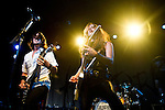 Joe Hottinger and Lzzy Hale of Halestorm perform at Bogarts in Cincinnati, Ohio.