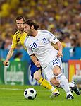 Ioannis Amanatidis and Mikael Nilsson at Euro 2008. Greece-Sweden 06102008, Salzburg, Austria
