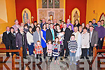 CHRISTENING DAY: Proud parents Mike and Julia Flynn from Tournafulla with baby Eoin who was christened by Fr O'Gorman, pictured here last Saturday with family and friends in St Patrick's Church, Tournafulla.