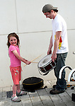 Yassi Noble practices her Samba Drumming at the Launch of the Samba Festival in the D Hotel...Photo NEWSFILE/Jenny Matthews.(Photo credit should read Jenny Matthews/NEWSFILE)....This Picture has been sent you under the condtions enclosed by:.Newsfile Ltd..The Studio,.Millmount Abbey,.Drogheda,.Co Meath..Ireland..Tel: +353(0)41-9871240.Fax: +353(0)41-9871260.GSM: +353(0)86-2500958.email: pictures@newsfile.ie.www.newsfile.ie.FTP: 193.120.102.198.