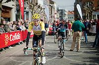 Robert Gesink (NLD/Team LottoNL-Jumbo) to the start<br /> <br /> 79th Flèche Wallonne 2015
