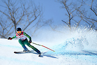 &circ;Day 2 / Super GS / Jonty O'Callaghan<br /> PyeongChang 2018 Paralympic Games<br /> Australian Paralympic Committee<br /> PyeongChang South Korea<br /> Sunday March 11th 2018<br /> &copy; Sport the library / Jeff Crow