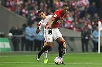Anthony Martial of Manchester United under pressure from Cedric Soares of Southampton<br /> Londra Wembley Stadium Southampton vs Manchester United - EFL League Cup Finale - 26/02/2017 <br /> Foto Phcimages/Panoramic/Insidefoto