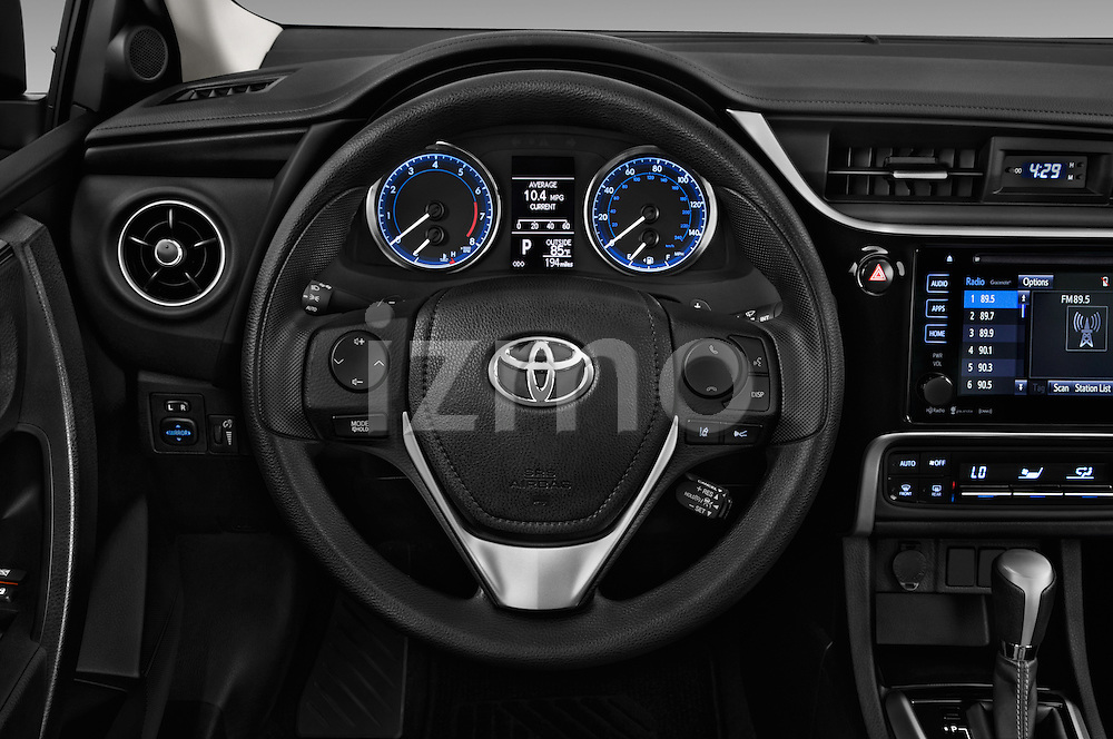 Car pictures of steering wheel view of a 2017 Toyota Corolla LE-Eco-AT 4 Door Sedan Steering Wheel