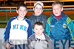 RACE NIGHT: Anthony Lonergan, Ballinorig, Craig and John Moriarty, Abbeydorney and Michael Walsh, Tullagh enjoying the racing at the South Kerry GAA Board Night at the Dogs at the Kingdom Greyhound Stadium on Saturday..   Copyright Kerry's Eye 2008