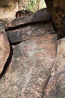Hawaiian petroglyph of human figure, Olowalu, Maui