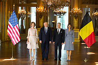 President Donald Trump & Melania Trump meet with King Philippe & Queen Mathilde of Belgium - Belgium