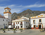 Historic buildings in Plaza de la Constitucion, Montejaque, Serrania de Ronda, Malaga province, Spain