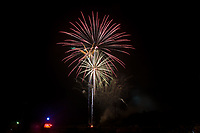 The Kannapolis Intimidators celebrated Independence Day with a fireworks display following the South Atlantic League game against the Delmarva Shorebirds at Kannapolis Intimidators Stadium on July 3, 2017 in Kannapolis, North Carolina.  The Shorebirds defeated the Intimidators 5-2.  (Brian Westerholt/Four Seam Images)