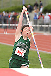 Photograph from the WIAA State Championships at Eastern Washington University in Cheney, Washington, during the 2010 Mt. Rainier Lutheran High School track and field season (pole vault photo sequence, 2 of 14).