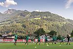 04.07.2019, Parkstadion, Zell am Ziller, AUT, TL Werder Bremen - Tag 00<br /> <br /> im Bild / picture shows 1. Training im TL Zillertal am Mittwoch abend<br /> <br /> Dehnuebungen am Morgen vor dem Training im Zillertal<br /> <br /> Niklas Moisander (Werder Bremen #18)<br /> Milot Rashica (Werder Bremen #07)<br /> Claudio Pizarro (Werder Bremen #14)<br /> Felix Beijmo (Werder Bremen #02)<br /> Yuya Osako (Werder Bremen #08)<br /> Foto © nordphoto / Kokenge