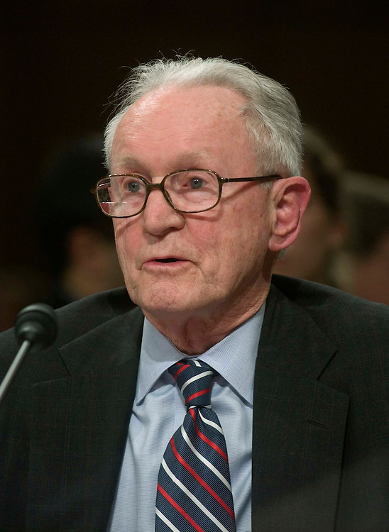 01/12/06.ALITO HEARINGS--Testifying at the Senate Judiciary hearing on behalf of Judge Samual A. Alito Jr., to be an associate justice of the U.S. Supreme Court: Retired U.S. Court of Appeals Judge John J. Gibbons..CONGRESSIONAL QUARTERLY PHOTO BY SCOTT J. FERRELL