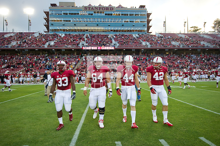 STANFORD, CA--AUGUST 31, 2012--Season-opening 20-17 Cardinal win over San Jose State University at Stanford Stadium.