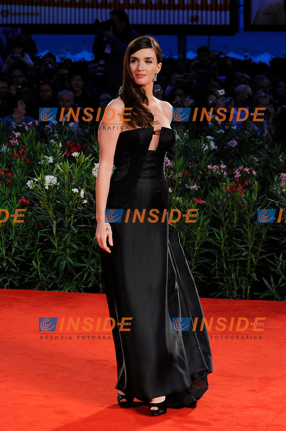 "- ""67 Mostra Internazionale D'Arte Cinematografica"". Monday, 2010 September 06, Venice ITALY..- In The Picture: The actress Paz Vega on the red carpet for the premiere of the film  ""VALLANZASCA - GLI ANGELI DEL MALE""...Photo STEFANO MICOZZI / Insidefoto"