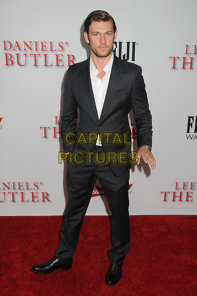 Alex Pettyfer<br /> &quot;Lee Daniels' The Butler&quot; Los Angeles Premiere held at Regal Cinemas L.A. Live, Los Angeles, California, USA.<br /> August 12th, 2013<br /> full length white shirt black suit grey gray stubble facial hair <br /> CAP/ADM/BP<br /> &copy;Byron Purvis/AdMedia/Capital Pictures