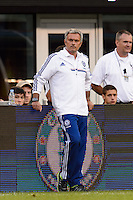 Chelsea F. C. manager Jose Mourinho. Chelsea F. C. defeated A. C. Milan 2-0 during round two of the 2013 Guinness International Champions Cup at MetLife Stadium in East Rutherford, NJ, on August 04, 2013.