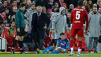 Napoli manager Carlo Ancelotti reacts to a challenge on one of his players<br /> <br /> Photographer Alex Dodd/CameraSport<br /> <br /> UEFA Champions League Group E - Liverpool v Napoli - Wednesday 27th November 2019 - Anfield - Liverpool<br />  <br /> World Copyright © 2018 CameraSport. All rights reserved. 43 Linden Ave. Countesthorpe. Leicester. England. LE8 5PG - Tel: +44 (0) 116 277 4147 - admin@camerasport.com - www.camerasport.com