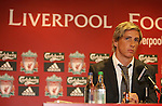 Fernando Torres is unveiled as a Liverpool player following his £26.5m move from Athletico Madrid..Torres has agreed a six-year deal 4 July 2007