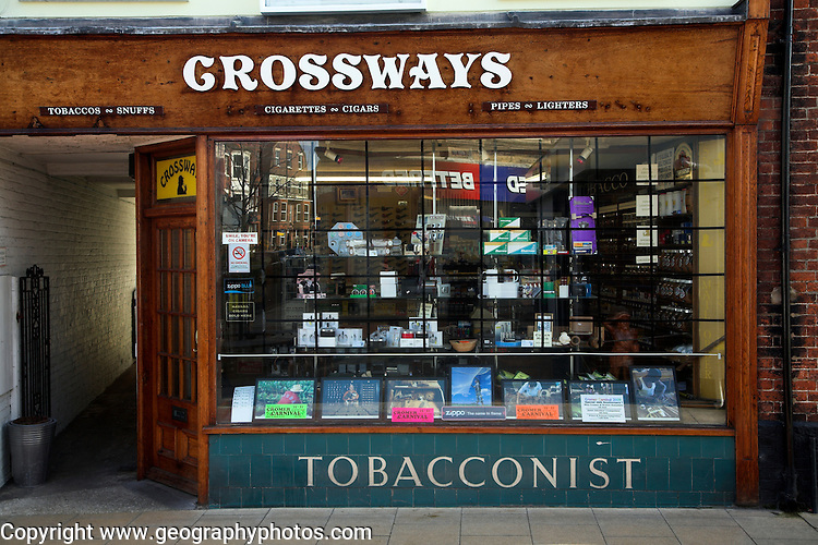 Crossways, traditional tobacconist shop, Cromer, Norfolk, England