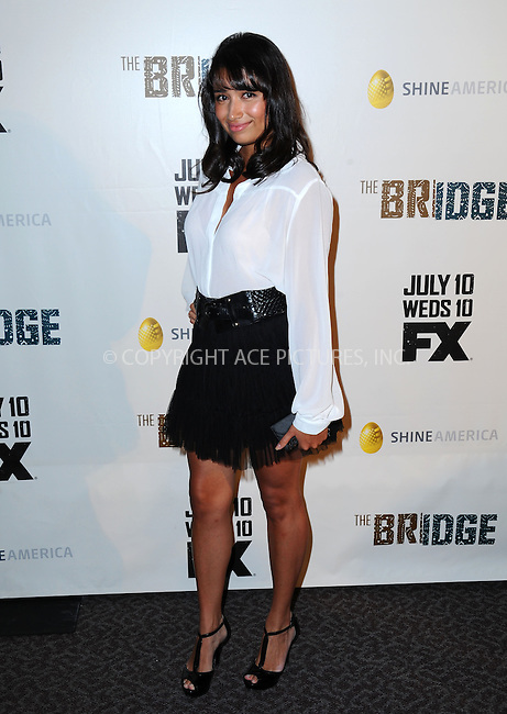 WWW.ACEPIXS.COM<br /> <br /> July 8 2013, LA<br /> <br /> Natalie Amenula arriving at the series premiere of FX's 'The Bridge' at DGA Theater on July 8, 2013 in Los Angeles, California. <br /> <br /> By Line: Peter West/ACE Pictures<br /> <br /> <br /> ACE Pictures, Inc.<br /> tel: 646 769 0430<br /> Email: info@acepixs.com<br /> www.acepixs.com