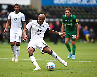 5th July 2020; Liberty Stadium, Swansea, Glamorgan, Wales; English Football League Championship, Swansea City versus Sheffield Wednesday; Andre Ayew of Swansea City takes the penalty to score his sides second goal of the game making it 2-0 in the 65th minute