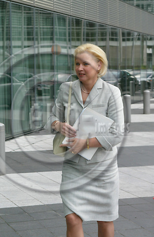 BRUSSELS - BELGIUM  -20 AUGUST 2004--Informal meeting of the Barroso Commission--Ingrida UDRE, Latvian Commissioner for Taxation and Customs Union, at her arrival at the Charlemagne Building for the first meeting of the new EU Commission.--PHOTO: ERIK LUNTANG / EUP-IMAGES