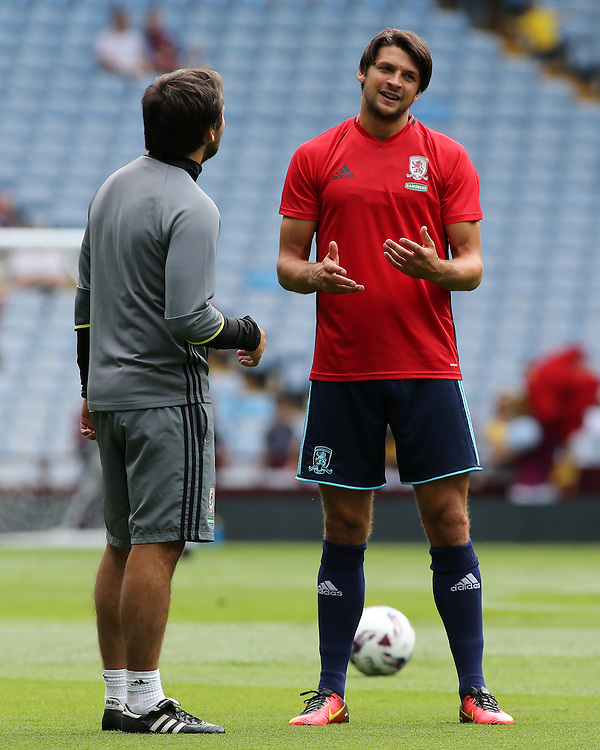 Photographer David Shipman / CameraSport<br /> <br /> Football - Pre-Season Friendly - Aston Villa v Middlesbrough - Saturday 30th July 2016 - Villa Park, Birmingham<br /> <br /> &copy; CameraSport - 43 Linden Ave. Countesthorpe. Leicester. England. LE8 5PG - Tel: +44 (0) 116 277 4147 - admin@camerasport.com - www.camerasport.com