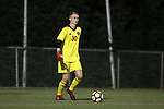 CARY, NC - SEPTEMBER 29: NC State's Dominic Peters. The University of North Carolina Tar Heels hosted the North Carolina State University Wolfpack on September 29, 2017 at Koka Booth Field at WakeMed Soccer Park in Cary, NC in a Division I college soccer game.