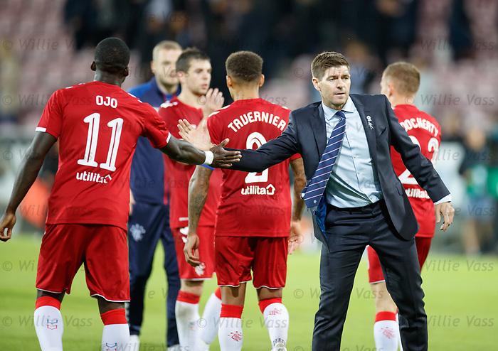 08.08.2019 FC Midtjylland v Rangers: Steven Gerrard