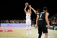 China&rsquo;s Jiwei Zhao in action during the FIBA World Cup Basketball Qualifier - NZ Tall Blacks v China at Spark Arena, Auckland, New Zealand on Sunday 1 July 2018.<br /> Photo by Masanori Udagawa. <br /> www.photowellington.photoshelter.com