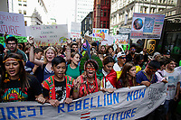 NEW YORK, NY - SEPTEMBER 20: Young activists from the Amazon attend a rally for action on climate change on September 20, 2019 in New York City. People world wide participate in a day of protest calling for urgent action to fight climate change.(Photo by Kena Betancur/VIEWpress)