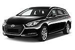 2015 Hyundai I40 Premium 5 Door Wagon Angular Front stock photos of front three quarter view