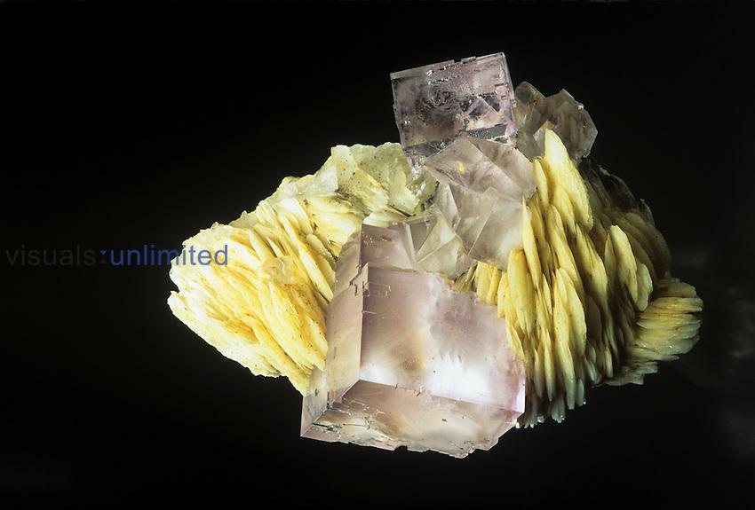 Fluorite on barite Berbes Mine- Astruias, Spain
