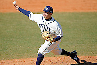 28 February 2010:  FIU's Alberto Cardenas (31) pitches as the FIU Golden Panthers defeated the Oral Roberts Golden Eagles, 7-6 (10 innings), at University Park Stadium in Miami, Florida.