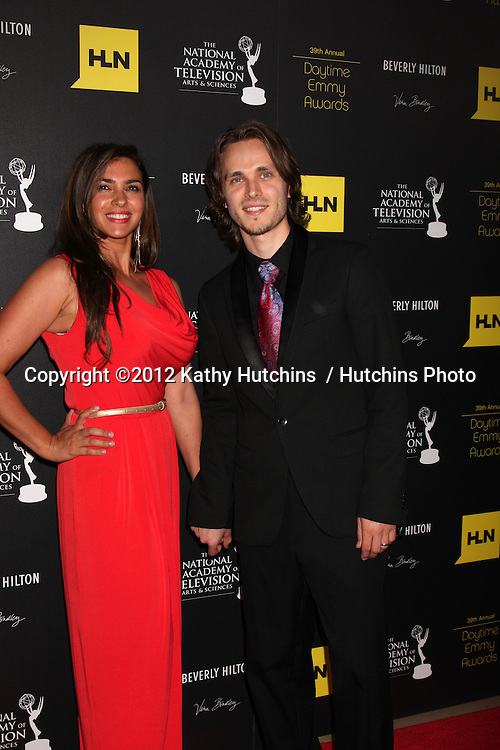 LOS ANGELES - JUN 23:  Jonathan Jackson, wife arrives at the 2012 Daytime Emmy Awards at Beverly Hilton Hotel on June 23, 2012 in Beverly Hills, CA