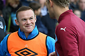 1st October 2017, Goodison Park, Liverpool, England; EPL Premier League Football, Everton versus Burnley; Wayne Rooney of Everton smiles as he makes his way onto the bench
