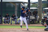 San Diego Padres third baseman Tucupita Marcano (67) at bat during an Instructional League game against the Chicago White Sox on September 26, 2017 at Camelback Ranch in Glendale, Arizona. (Zachary Lucy/Four Seam Images)