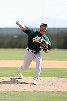 Robert Gilliam, Oakland Athletics 2010 minor league spring training..Photo by:  Bill Mitchell/Four Seam Images.