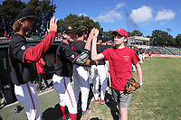 STANFORD, CA - February 18, 2018: Stanford Baseball vs Cal State Fullerton at Sunken Diamond.  Stanford won 6-5 and swept the 3 game series.