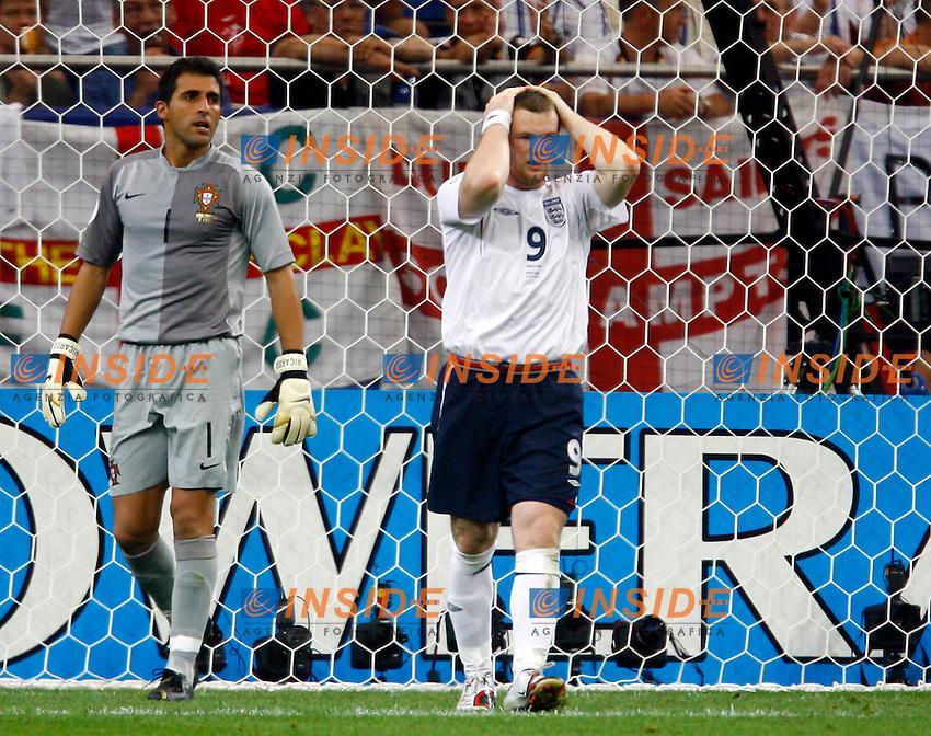 Gelsenkirchen 1/7/2006 World Cup 2006 Quarti di finale Inghilterra Portogallo 1-3 a.p..Photo Andrea Staccioli Insidefoto.Wayne Rooney Inghilterra Ricardo Portogallo