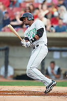 Clinton LumberKings outfielder Jobari Blash #43 during a Midwest League game against the Kane County Cougars at Fifth Third Ballpark on August 16, 2012 in Geneva, Illinois.  Kane County defeated Clinton 5-3.  (Mike Janes/Four Seam Images)