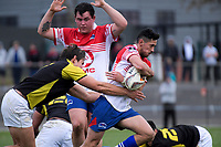 Action from the preseason provincial rugby match between Horowhenua Kapiti and Wellington at Levin Domain in Levin, New Zealand on Monday, 4 May 2018. Photo: Dave Lintott / lintottphoto.co.nz