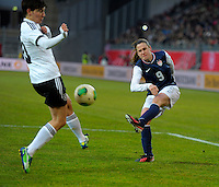 Offenbach, Germany, Friday, April 05 2013: Womans, Germany vs. USA, in the Stadium in Offenbach,  Heather O´Reilly (USA)..