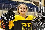 06.01.2020, BLZ Arena, Füssen / Fuessen, GER, IIHF Ice Hockey U18 Women's World Championship DIV I Group A, <br /> Deutschland (GER) vs Ungarn (HUN), <br /> im Bild ein breites Grinsen von Thea-Marleen Bartell (GER, #10) nach dem Sieg<br /> <br /> Foto © nordphoto / Hafner