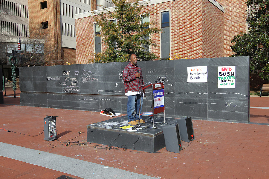 Free speech monument on the Downtown Mall in Charlottesville, Va.