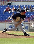 March 29, 2004:  Pitcher Aaron Fultz of the Minnesota Twins organization during Spring Training at Dunedin Stadium in Dunedin, FL.  Photo copyright Mike Janes/Four Seam Images